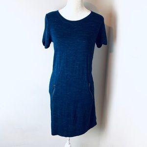 KENAR Blue shift dress pockets size extra small